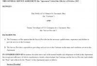 Free Service Agreement  Create Download And Print  Lawdepot Us intended for Collateral Warranty Agreement Template
