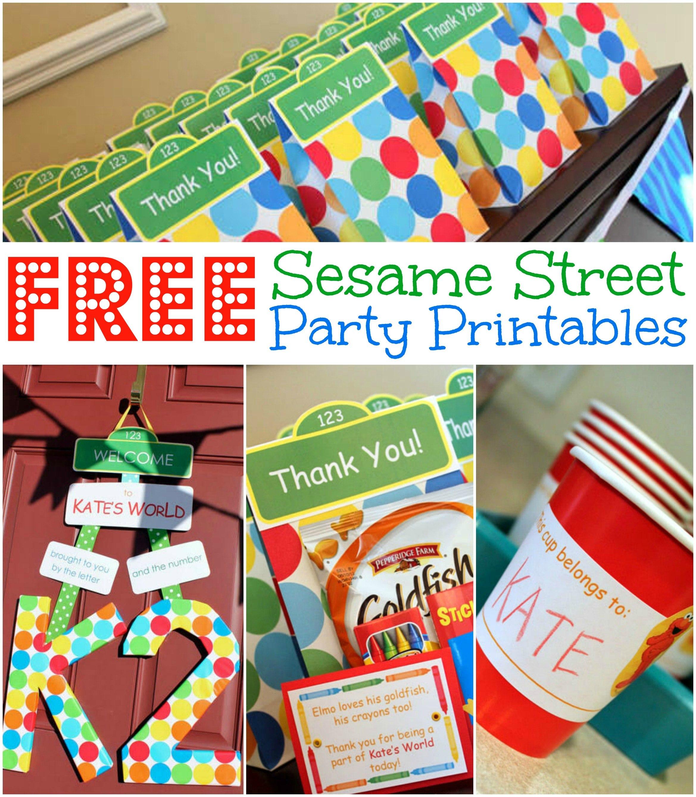 Free Sesame Street Birthday Party Printables Regarding Sesame Street Label Templates