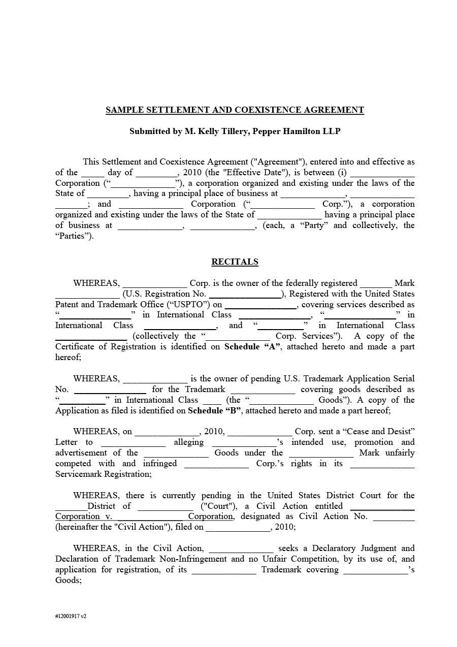 Free Settlement Agreement Templates Divorcedebtemployment With Divorce Financial Settlement Agreement Template