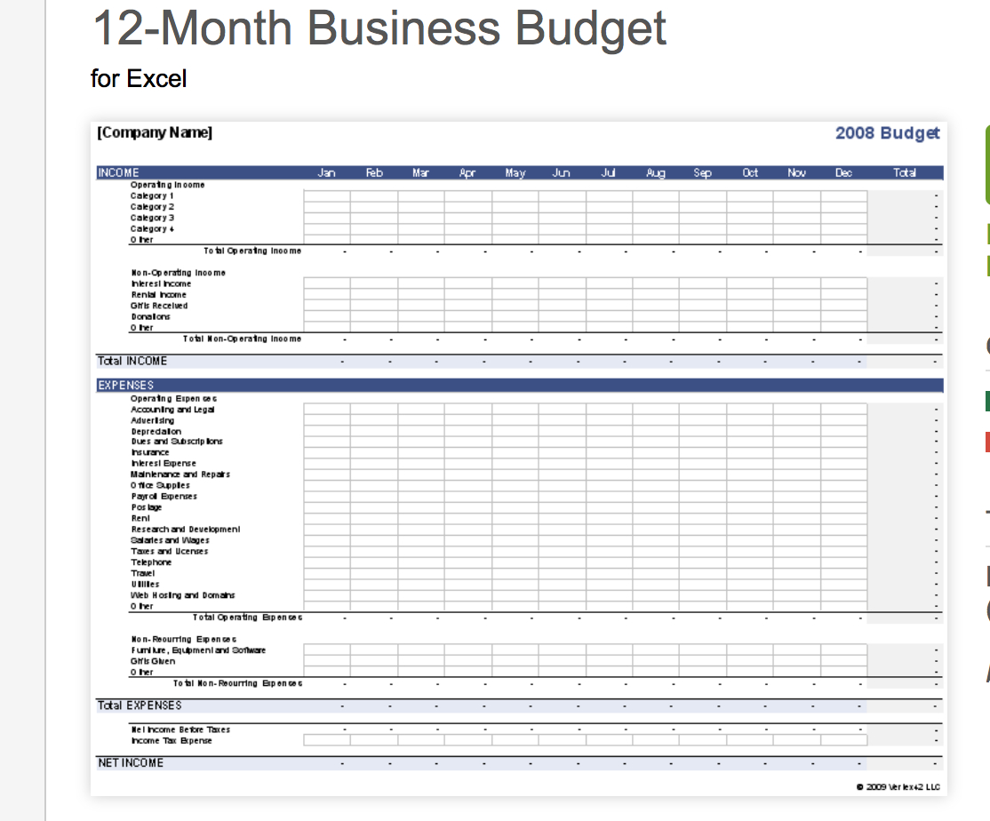 Free Small Business Budget Templates  Fundbox Blog Intended For Budget Template For Startup Business