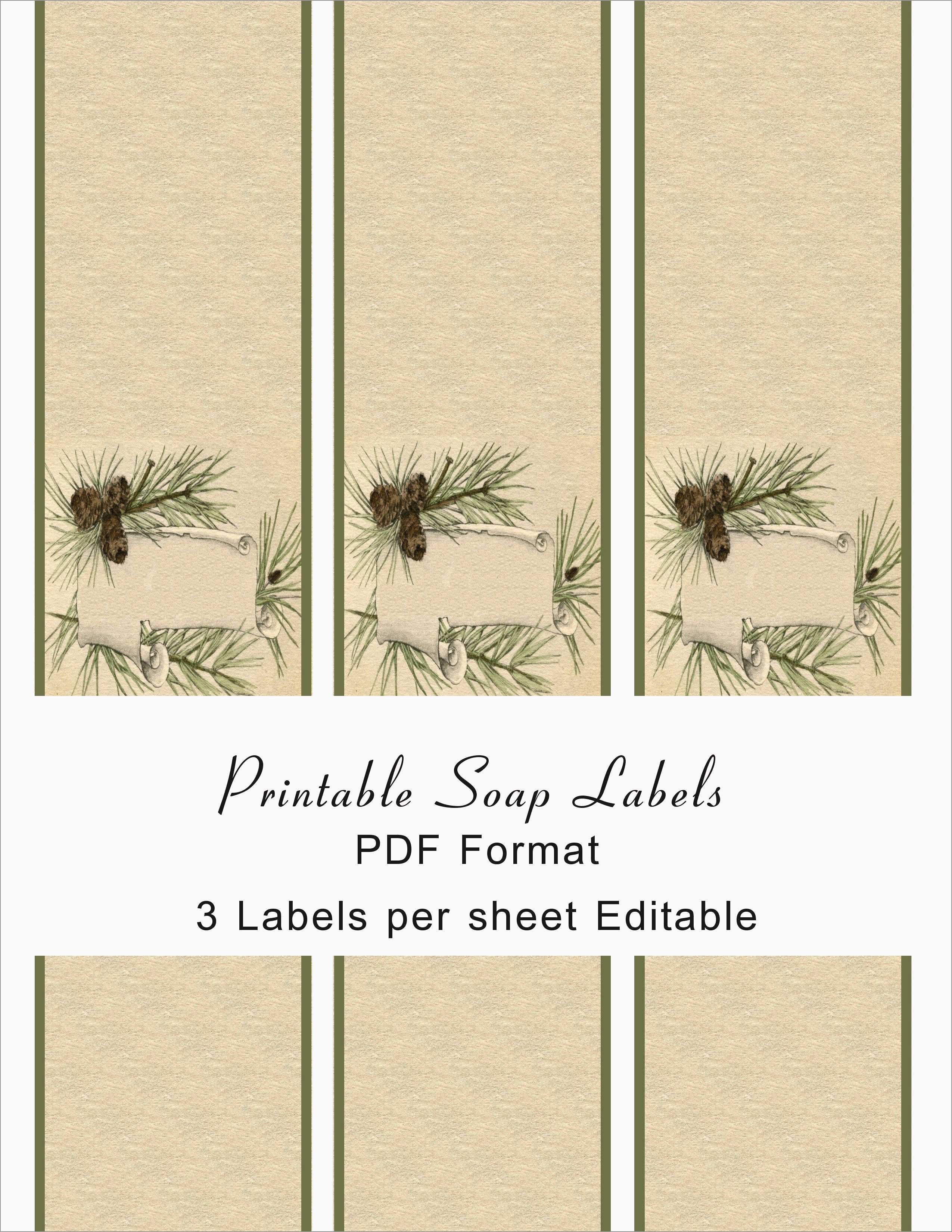 Free Soap Label Templates Awesome Printable Soap Labels  Best Of Inside Free Printable Soap Label Templates