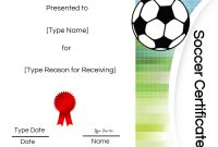 Free Soccer Certificate Maker  Edit Online And Print At Home For Soccer Award Certificate Templates Free