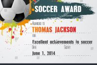 Free Soccer Certificate Template Free Condofinancials Free Printable pertaining to Soccer Certificate Template