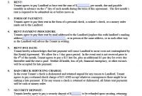Free Standard Residential Lease Agreement Templates  Pdf  Word regarding Yearly Rental Agreement Template