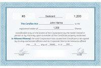 Free Stock Certificate Online Generator inside Corporate Share Certificate Template