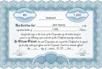 Free Stock Certificate Online Generator regarding Llc Membership Certificate Template