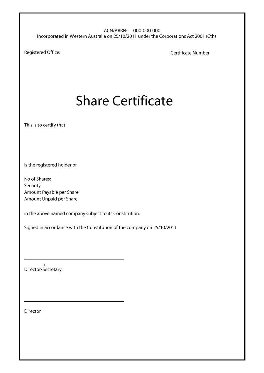 Free Stock Certificate Templates Word Pdf ᐅ Template Lab In Blank Share Certificate Template Free