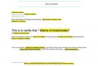 Free Stock Certificate Templates Word Pdf ᐅ Template Lab within Share Certificate Template Australia