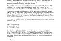 Free Stock Certificate Templates Word Pdf  Free Template with regard to Stock Certificate Template Word