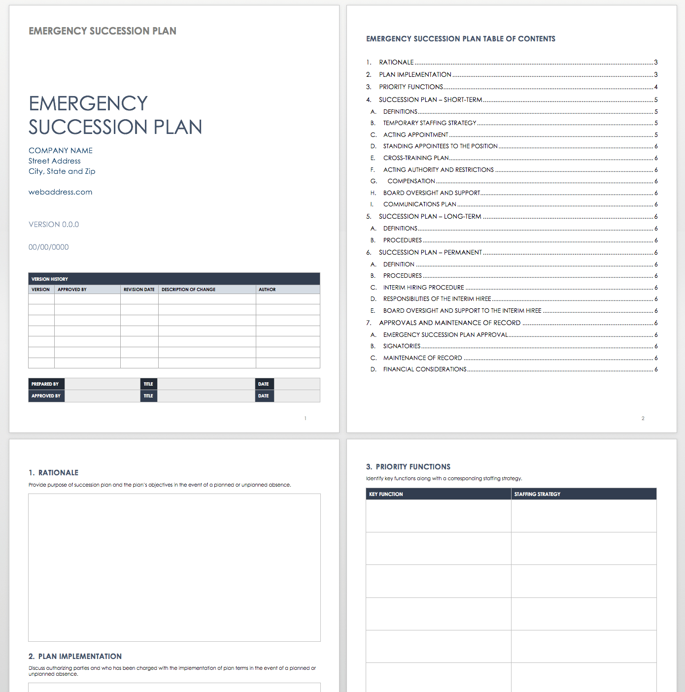 Free Succession Planning Templates  Smartsheet Inside Ceo Report To Board Of Directors Template