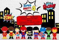 Free Superhero Birthday Party Invitation Templates …  Jase Turns inside Superhero Water Bottle Labels Template