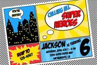 Free Superhero Invitation Templates  Invitation Templates intended for Superhero Water Bottle Labels Template