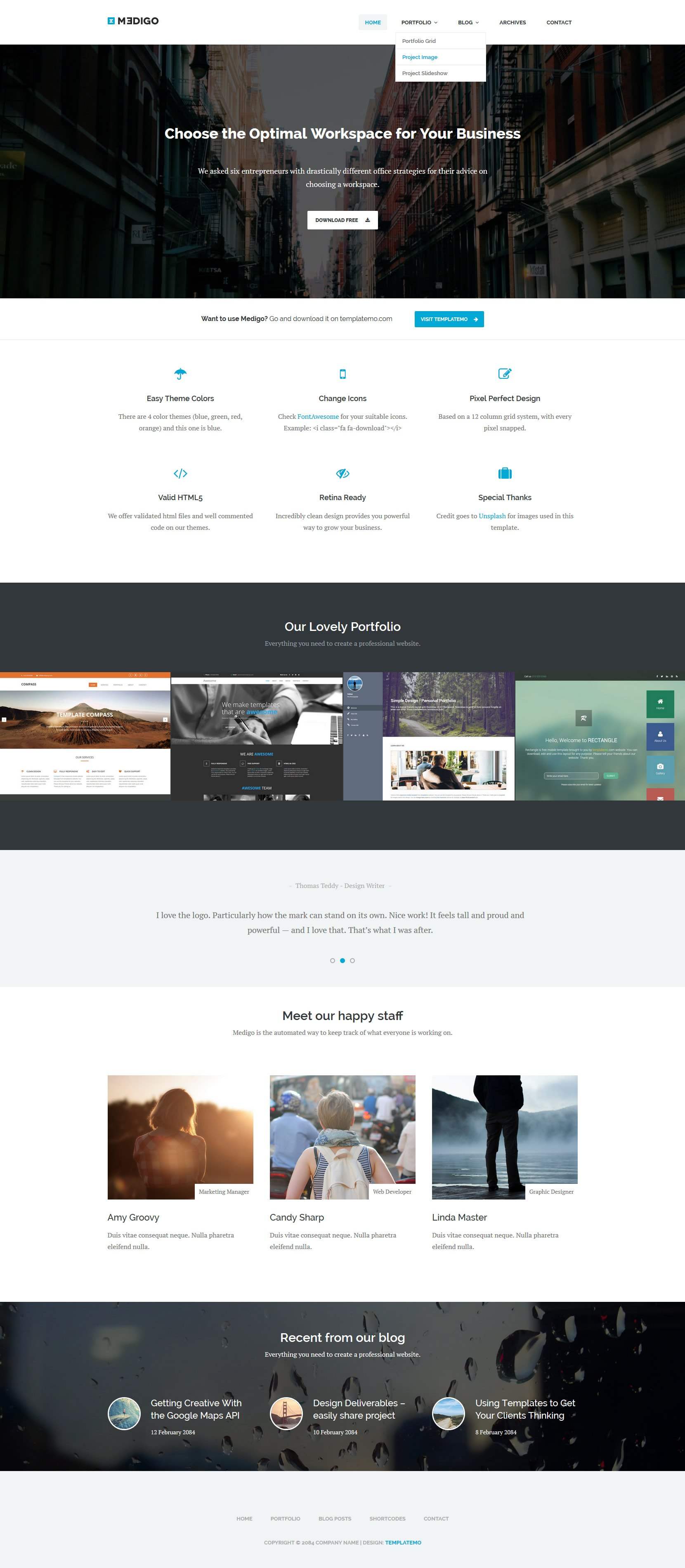 Free Template  Medigo For Free Css Website Templates With Drop Down Menu