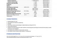 Free Templates  Data Sheet Spec Sheet And More  Tdsmaker with Datasheet Template Word