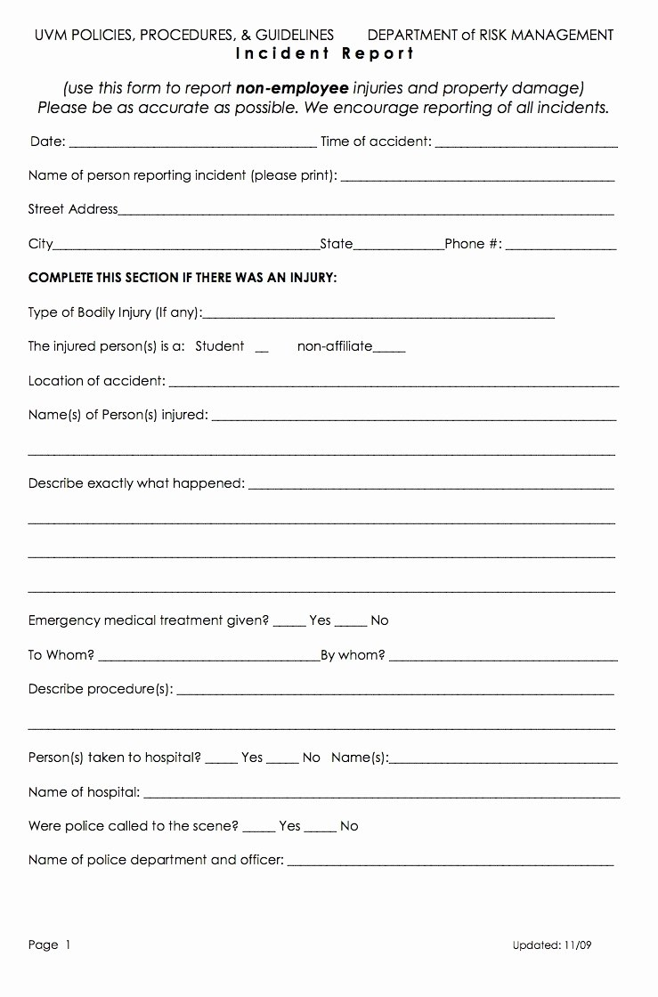 Free Templates Employee Incident Report Form Template Ideas For Employee Incident Report Templates