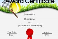 Free Tennis Certificate  Customize Online  Print with regard to Tennis Certificate Template Free