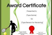 Free Tennis Certificate  Customize Online  Print within Tennis Certificate Template Free