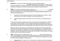 Free Texas Rental Lease Agreements  Residential  Commercial  Pdf regarding Mutual Understanding Agreement Template