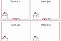 Free Thank You Card Template  Wilkesworks pertaining to Printable Holiday Card Templates