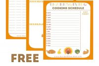 Free Thanksgiving Planner With  Printables To Help Keep You in Thanksgiving Menu Template Printable