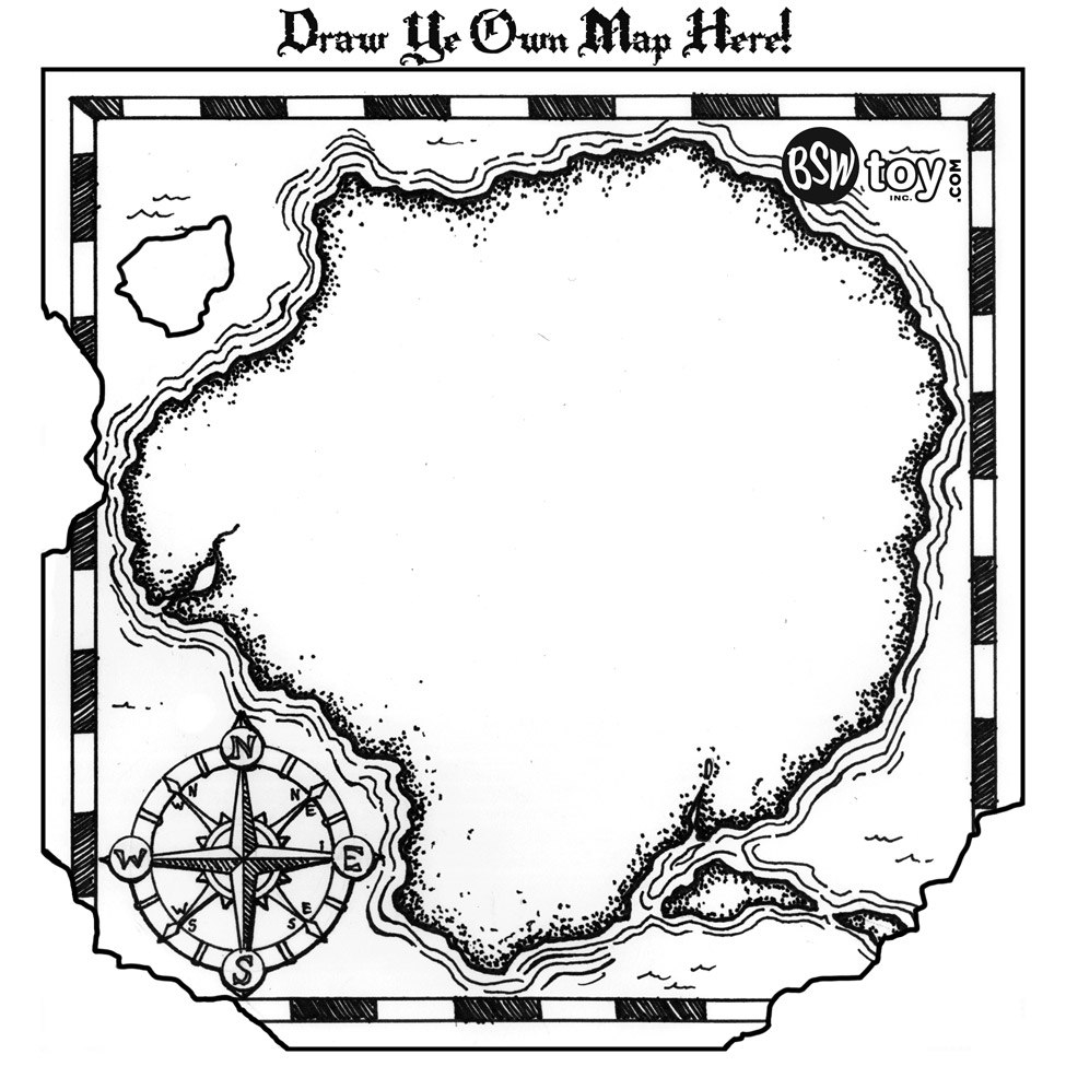 Free Treasure Map Outline Download Free Clip Art Free Clip Art On With Regard To Blank Pirate Map Template