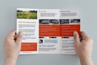 Free Trifold Brochure Template In Psd Ai  Vector  Brandpacks with regard to Free Tri Fold Business Brochure Templates