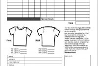 Free Tshirt Order Form Template Download  Sample Order Templates within Blank T Shirt Order Form Template