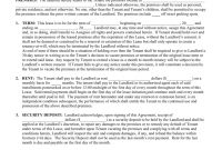 Free Vermont Standard Residential Lease Agreement Form  Pdf  Word for Private Rental Agreement Template