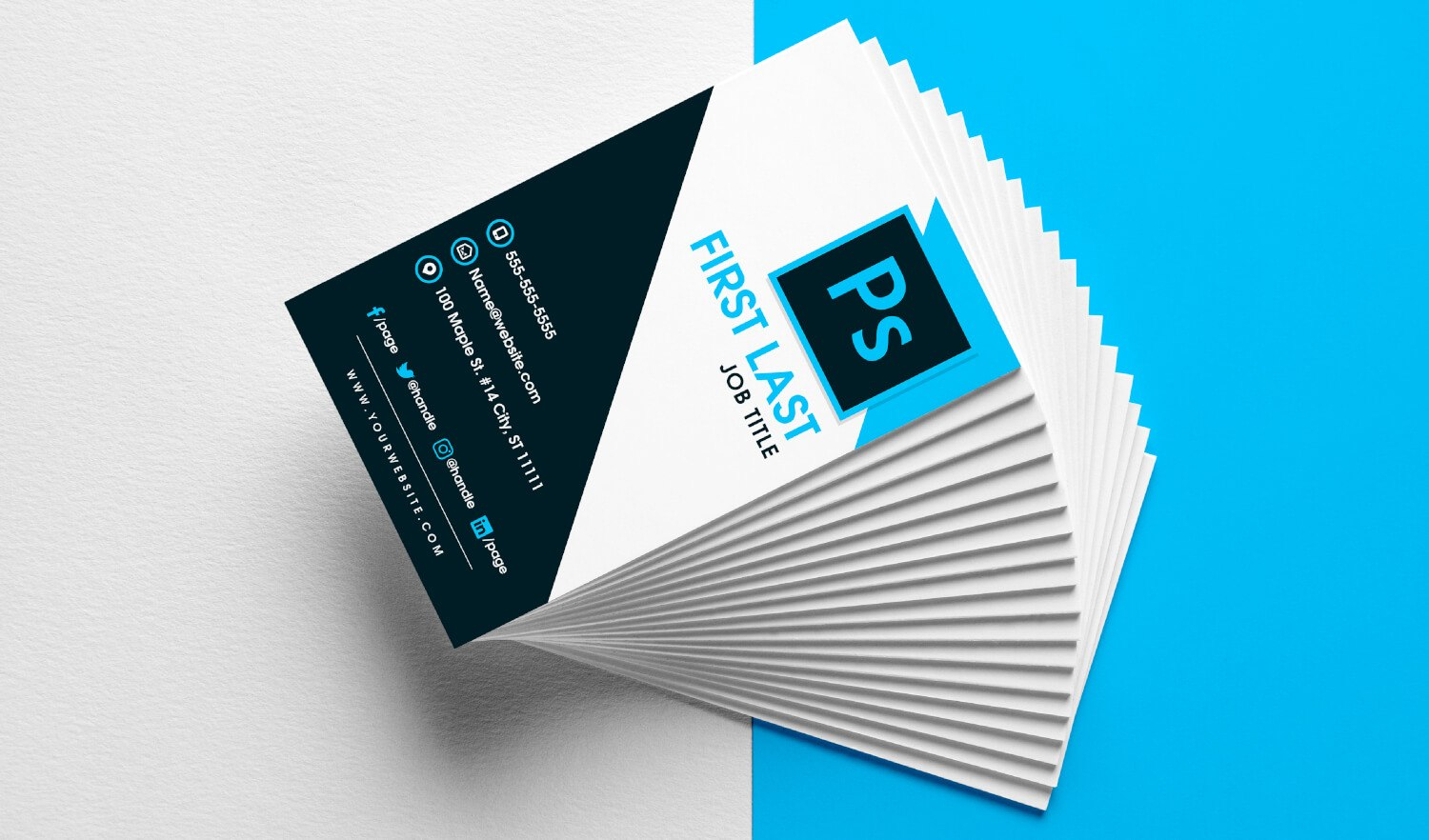 Free Vertical Business Card Template In Psd Format With Free Business Card Templates In Psd Format