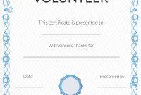 Free Volunteer Appreciation Certificates — Signup regarding Volunteer Certificate Templates