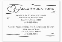 Free Wedding Accommodation Card Template Amazing Wedding Ac inside Wedding Hotel Information Card Template