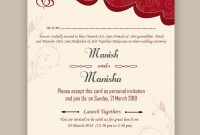 Free Wedding Card Psd Templates In   Kankotri Vector Template with Invitation Cards Templates For Marriage