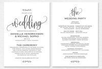 Free Wedding Program Templates Word Template Stunning Ideas with Free Printable Wedding Program Templates Word