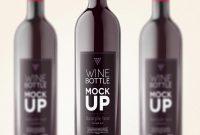 Free Wine Bottle Mockup  ✏ Free Mockups  Bottle Mockup throughout Wine Bottle Label Design Template