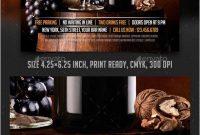 Free Wine Flyer Template Good Wine Brochure Template Vector  Best in Wine Brochure Template