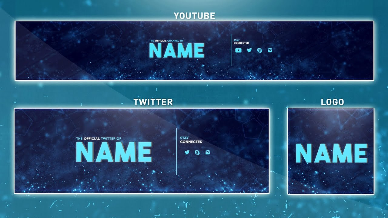 Free Youtube Banner Template  Photoshop Banner  Logo  Twitter Throughout Banner Template For Photoshop