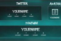 Free Youtube Banner  Twitter Header Template Psd  Direct Download regarding Twitter Banner Template Psd