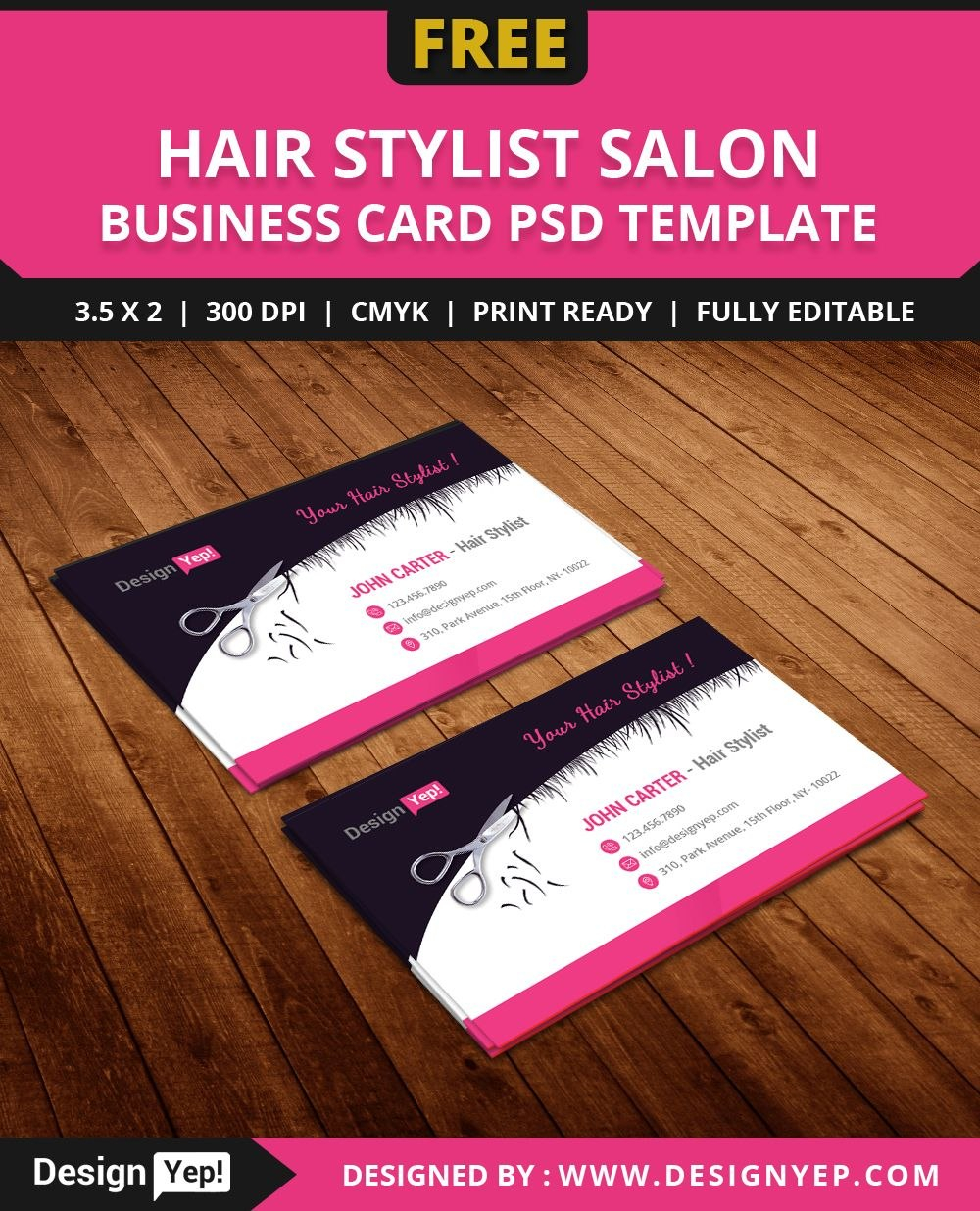 Freehairstylistsalonbusinesscardtemplatepsd  Free Business With Hairdresser Business Card Templates Free