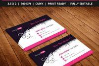 Freehairstylistsalonbusinesscardtemplatepsd  Free Business within Hair Salon Business Card Template