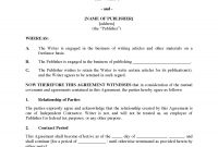 Freelance Writer Agreement  Legal Forms And Business Templates pertaining to Freelance Writer Agreement Template