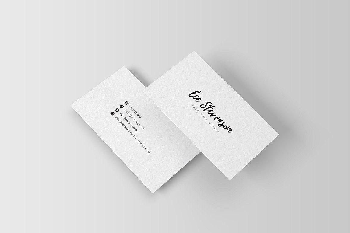 Freelancer Business Card Iii Filespsdbleedssize  D Design Within Freelance Business Card Template