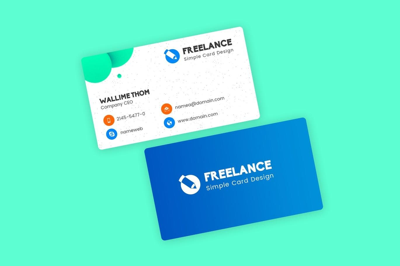 Freelancer Business Visiting Cards Design Template Psd With Regard To Freelance Business Card Template