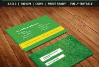 Freelandscapingbusinesscardtemplatepsd  Free Business Card throughout Landscaping Business Card Template