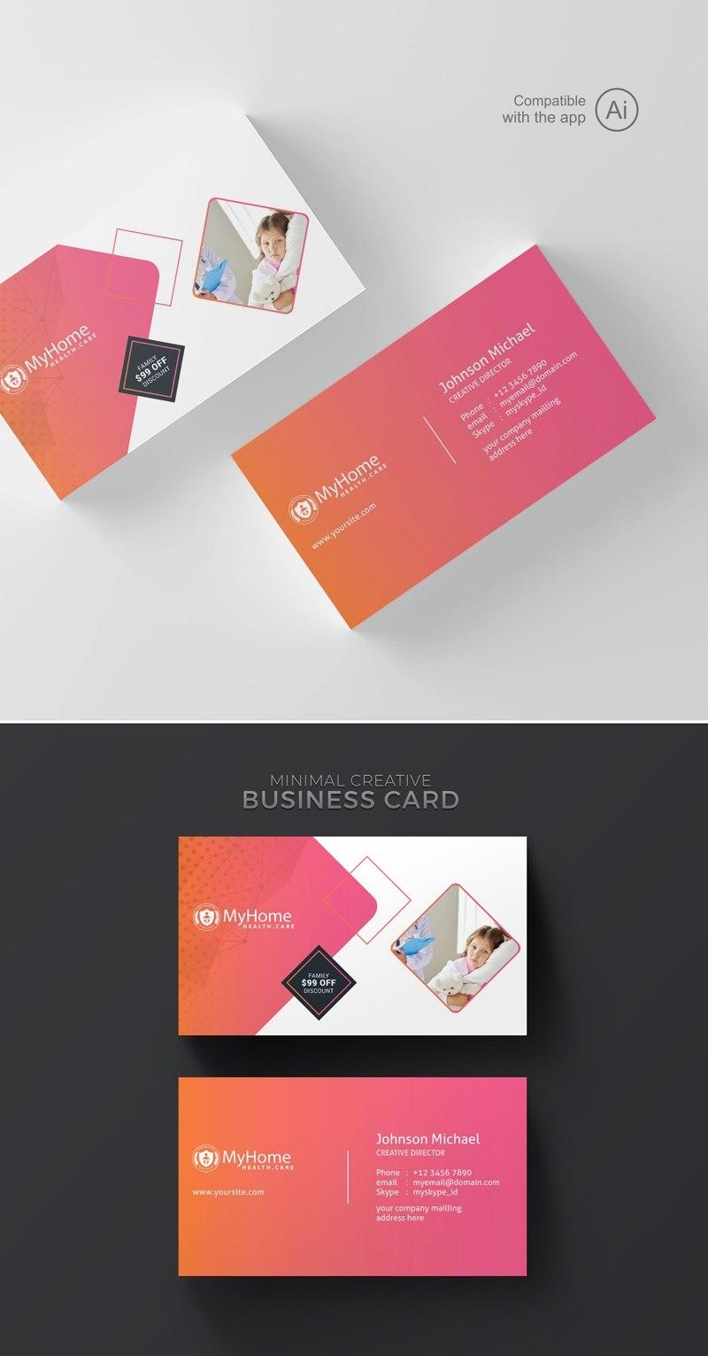 Freepiker  Medical  Health Care Business Card Template In Medical Business Cards Templates Free