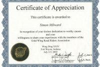 Freesamplecertificatescertificateofrecognitiontemplate with Sample Certificate Of Recognition Template