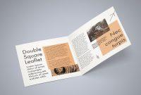 Freesquarebifoldbrochuremockuppsdfile  Bi Fold Brochures in 2 Fold Brochure Template Psd