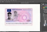 French Driver License Permis De Conduire Psd Template  Psd pertaining to French Id Card Template