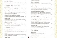 French Menu  Atelier Inspiration Hospitality  French Restaurant within French Cafe Menu Template