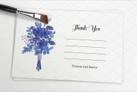Fresh Free Thank You Card Template Word  Best Of Template for Thank You Card Template Word