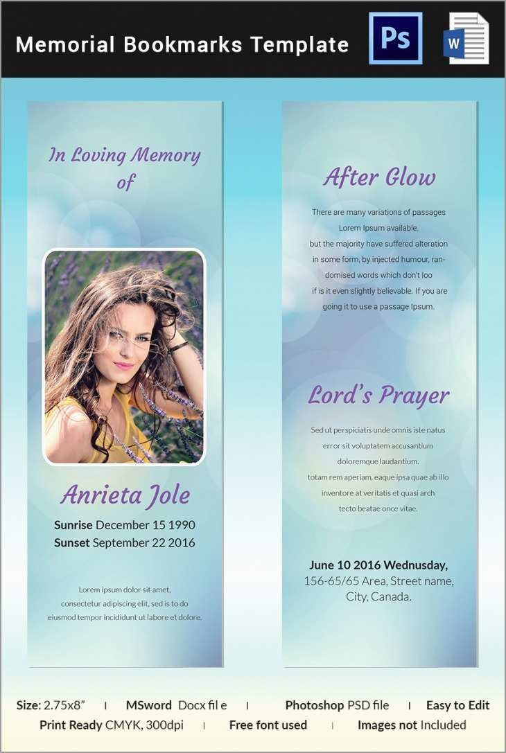 Fresh Memorial Cards For Funeral Template Free  Best Of Template Inside Remembrance Cards Template Free